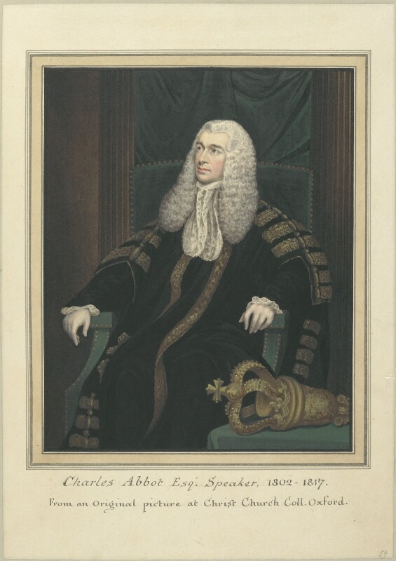 Charles Abbot, 1st Baron Colchester, attributed to Thomas Athow, after  James Northcote, early 19th century - NPG D23288 - © National Portrait Gallery, London