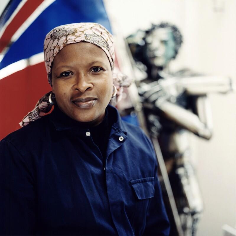 Sokari Douglas Camp, by Sal Idriss, 2006 - NPG x128611 - © Sal Idriss / National Portrait Gallery, London