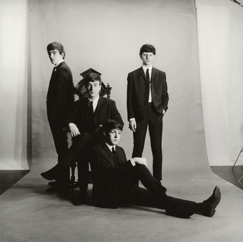 The Beatles (George Harrison; John Lennon; Paul McCartney; Ringo Starr), by Astrid Kirchherr, November 1962 - NPG x128620 - © Astrid Kirchherr / Getty Images