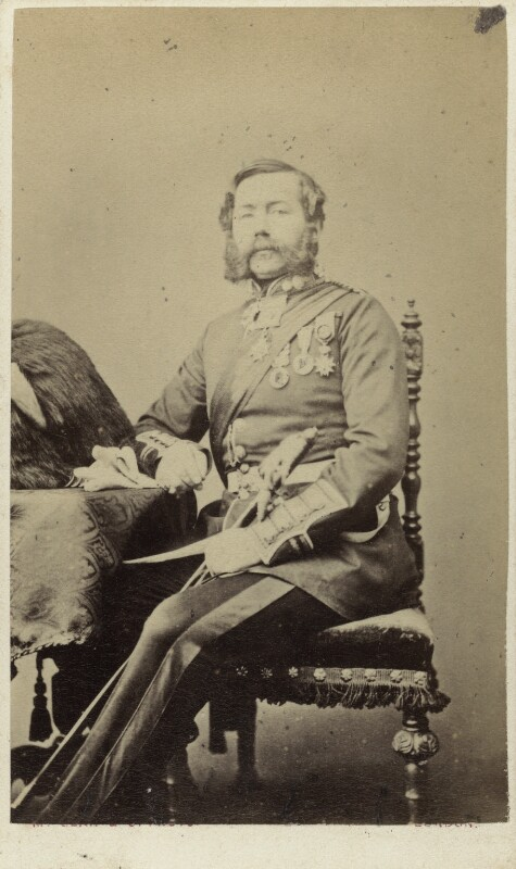 General Hamilton, by Thomas McLean & Co, late 1860s - NPG Ax46456 - © National Portrait Gallery, London