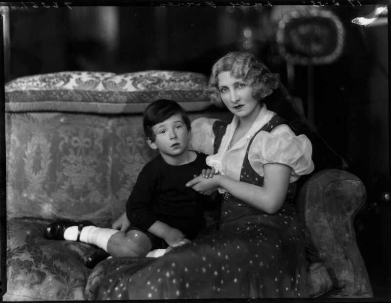 Jessica Williamson (née Harford), Lady Forres and an unknown boy, by Bassano Ltd, 17 February 1933 - NPG x150824 - © National Portrait Gallery, London