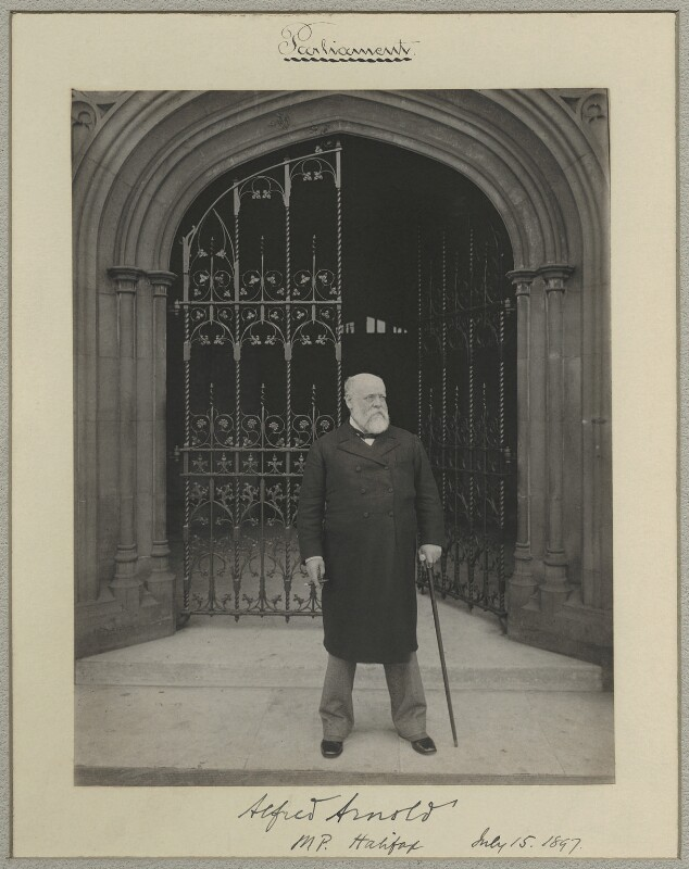 Sir Alfred Arnold, by Sir (John) Benjamin Stone, 15 July 1897 - NPG x8272 - © National Portrait Gallery, London