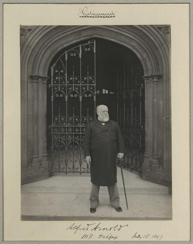 Sir Alfred Arnold, by Sir (John) Benjamin Stone, 15 July 1897 - NPG x8272 - © National Portrait Gallery, London