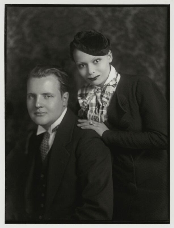 Constant Lambert; Florence Lambert (née Chuter, later Hole), by Bassano Ltd, 10 May 1933 - NPG x150854 - © National Portrait Gallery, London