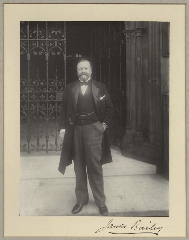 Sir James Bailey, by Benjamin Stone, 16 September 1898 - NPG x8277 - © National Portrait Gallery, London