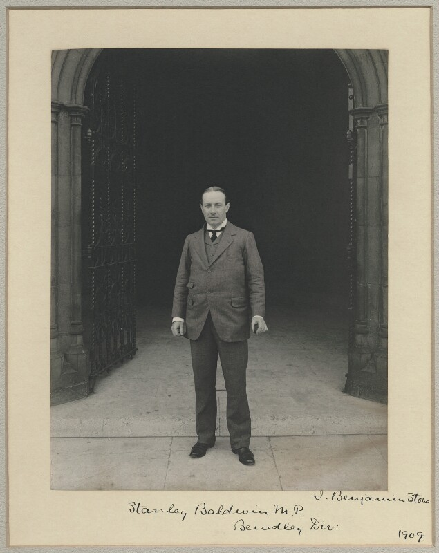 Stanley Baldwin, 1st Earl Baldwin, by Sir (John) Benjamin Stone, 1909 - NPG x8281 - © National Portrait Gallery, London
