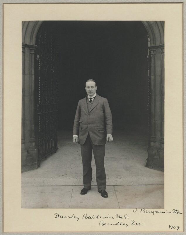 Stanley Baldwin, 1st Earl Baldwin, by Sir (John) Benjamin Stone, 1909 - NPG x8281 - © National Portrait Gallery, London