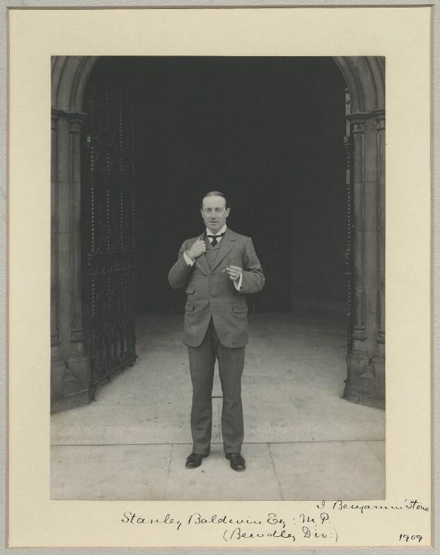 Stanley Baldwin, 1st Earl Baldwin, by Benjamin Stone, 1909 - NPG x8282 - © National Portrait Gallery, London