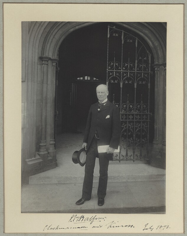 John Blair Balfour, 1st Baron Kinross, by Sir (John) Benjamin Stone, July 1898 - NPG x1098 - © National Portrait Gallery, London