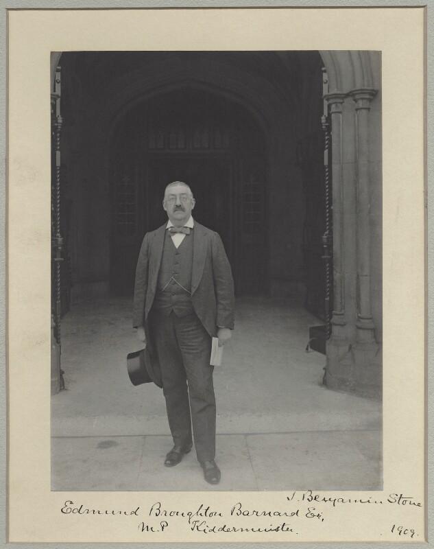 Sir Edmund Broughton Barnard, by Benjamin Stone, 1909 - NPG x8292 - © National Portrait Gallery, London