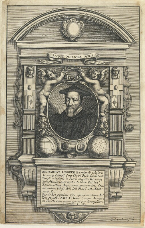 Richard Hooker, by William Faithorne, published 1662 or after - NPG D22792 - © National Portrait Gallery, London