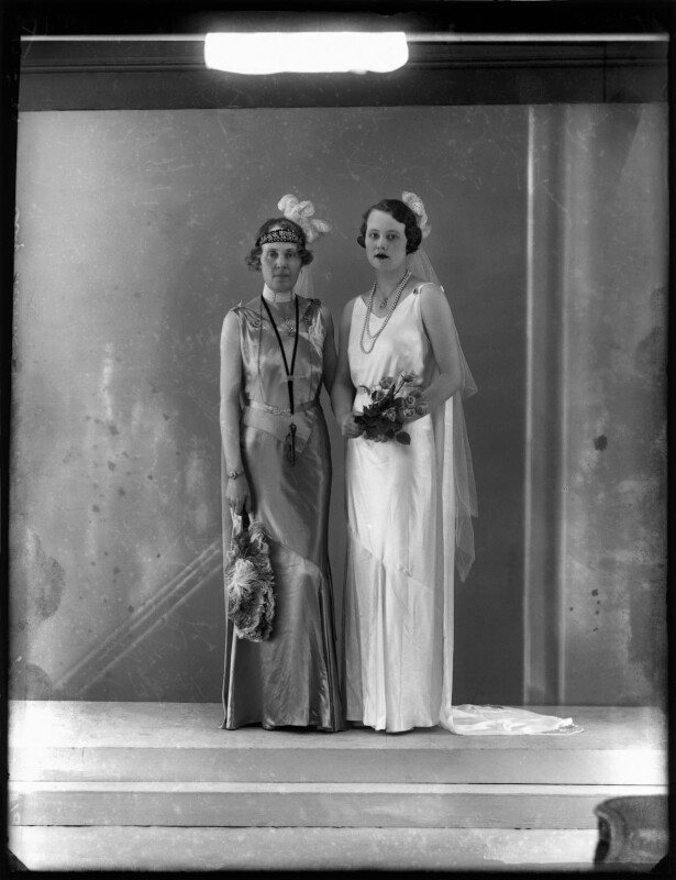 Lady Victoria Alexandrina Villiers (née Innes-Ker); Cicely Irene ('Stella') Courage (née Villiers), by Bassano Ltd, 17 May 1933 - NPG x150872 - © National Portrait Gallery, London