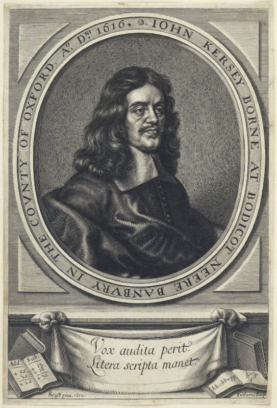 John Kersey, by William Faithorne, after  Gilbert Soest, published 1673 (1672) - NPG D22795 - © National Portrait Gallery, London