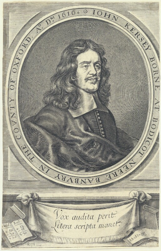 John Kersey, by William Faithorne, after  Gilbert Soest, published 1673 (1672) - NPG D22797 - © National Portrait Gallery, London