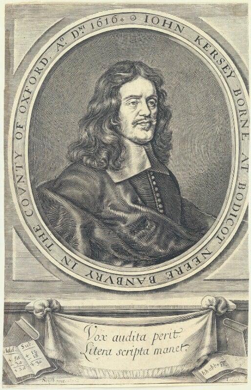John Kersey, by William Faithorne, after  Gilbert Soest, published 1673 (1672) - NPG D22797 - © National Portrait Gallery, London