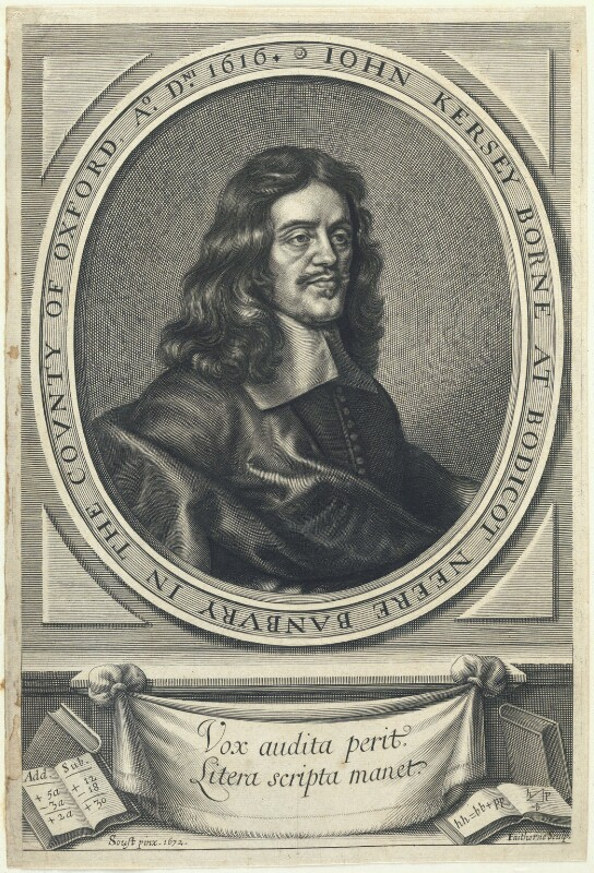 John Kersey, by William Faithorne, after  Gilbert Soest, published 1673 (1672) - NPG D22798 - © National Portrait Gallery, London