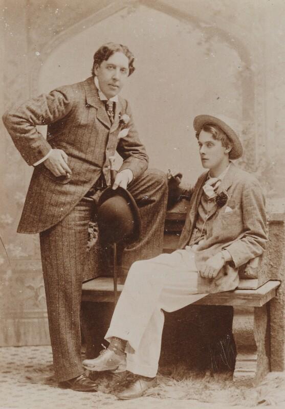 Oscar Wilde; Lord Alfred Bruce Douglas, by Gillman & Co, May 1893 - NPG P1122 - © National Portrait Gallery, London