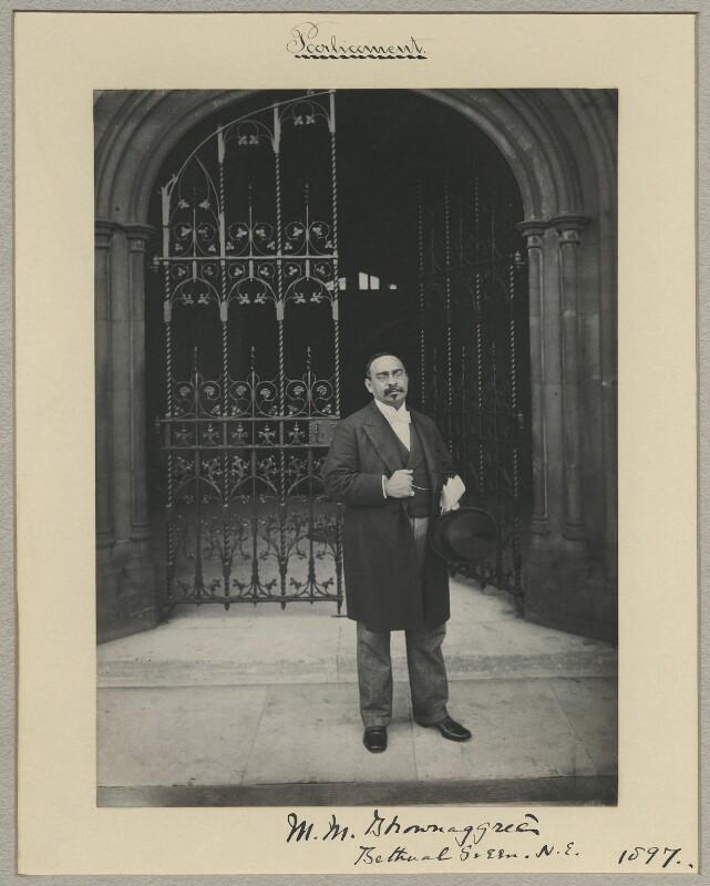 Sir Mancherjee Merwanjee Bhownaggree, by Benjamin Stone, 1897 - NPG x8812 - © National Portrait Gallery, London