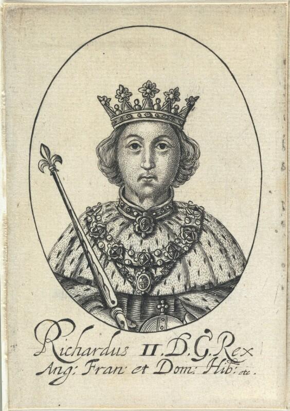 King Richard II, probably by William Faithorne, circa 1640 - NPG D22805 - © National Portrait Gallery, London