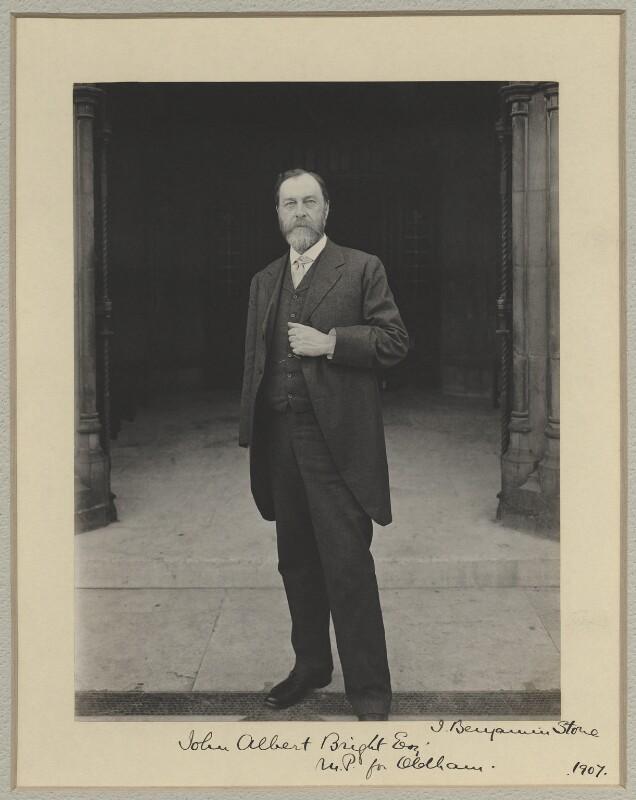 John Albert Bright, by Benjamin Stone, 1907 - NPG x8907 - © National Portrait Gallery, London