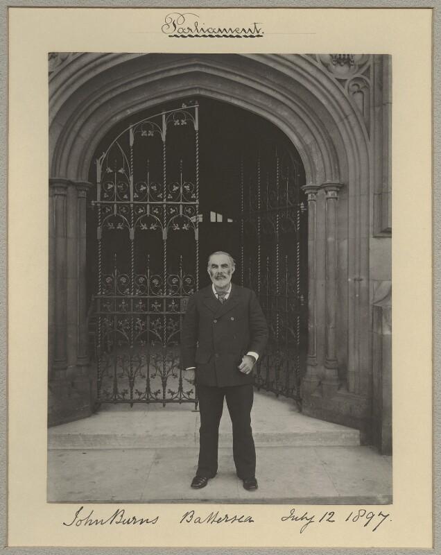 John Elliott Burns, by Benjamin Stone, 12 July 1897 - NPG x8921 - © National Portrait Gallery, London