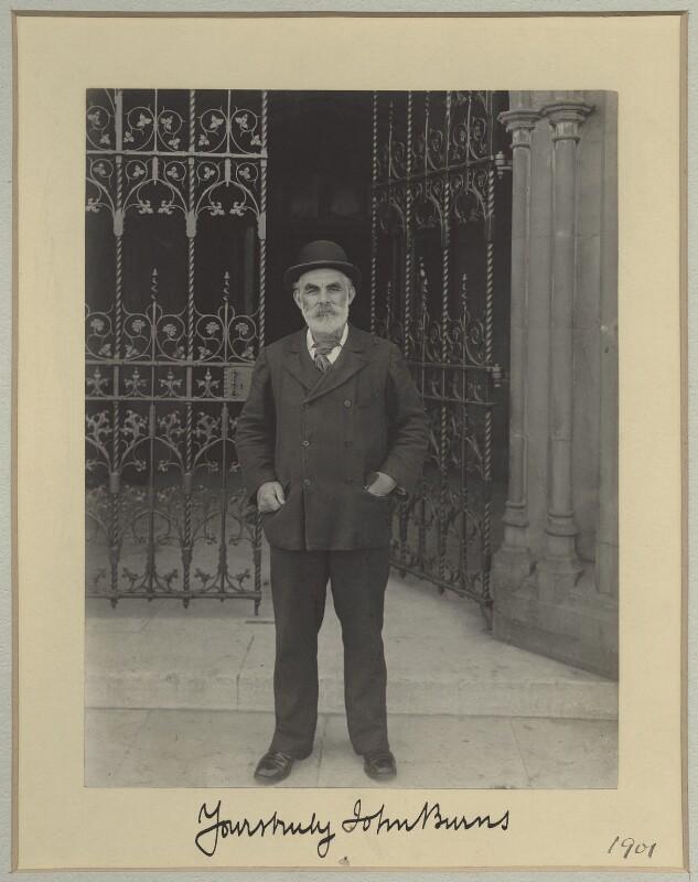 John Elliott Burns, by Sir (John) Benjamin Stone, 1901 - NPG x7949 - © National Portrait Gallery, London