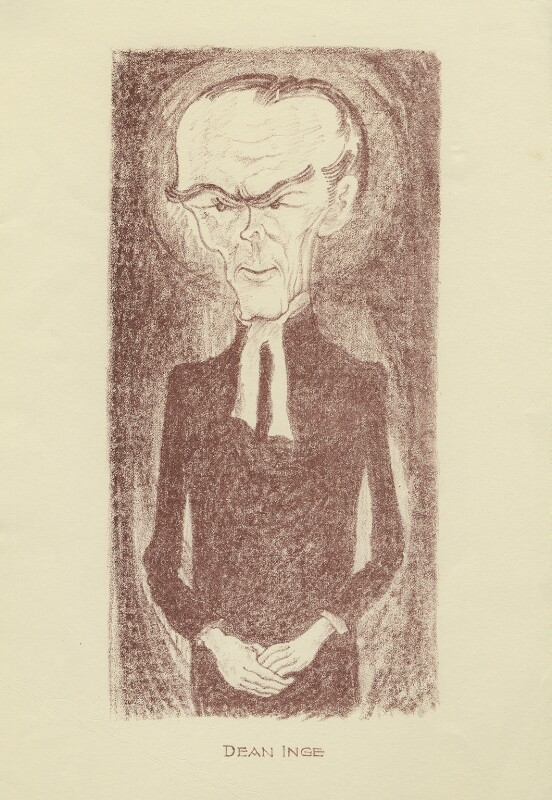 William Ralph Inge, by Mark Wayner (Weiner), published 1931 - NPG D23338 - © reserved; collection National Portrait Gallery, London