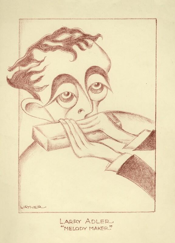 Larry Adler, by Mark Wayner (Weiner), 1943 or before - NPG D23339 - © reserved; collection National Portrait Gallery, London