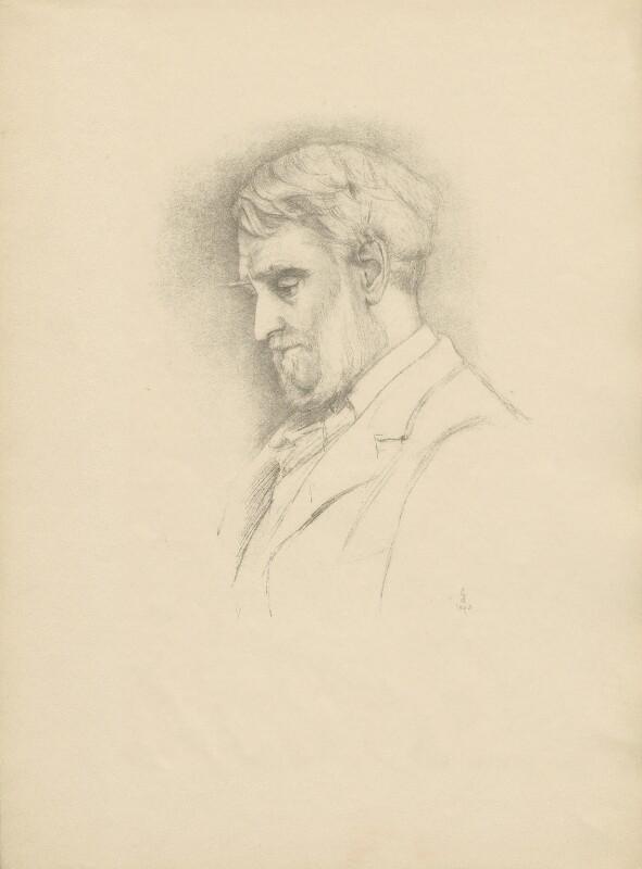 John James Robert Manners, 7th Duke of Rutland, after (Marion Margaret) Violet Manners (née Lindsay), Duchess of Rutland, 1893 - NPG D23356 - © National Portrait Gallery, London
