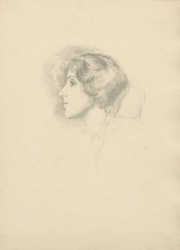 Mrs Patrick Campbell, after (Marion Margaret) Violet Manners (née Lindsay), Duchess of Rutland, 1899 - NPG D23394 - © National Portrait Gallery, London