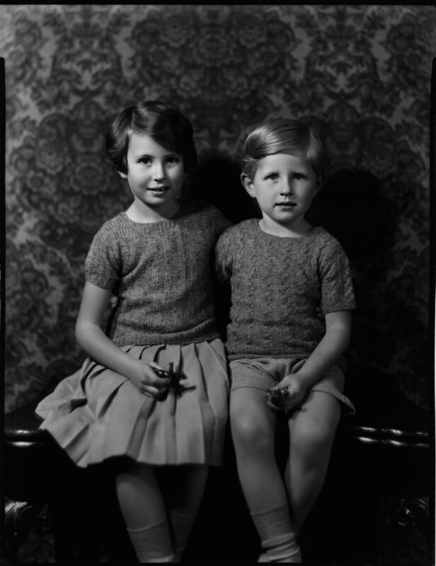 Hon. Philippa Selina Mather (née Bewicke-Copley); David Godfrey Bewicke-Copley, 6th Baron Cromwell, by Bassano Ltd, 3 November 1933 - NPG x150954 - © National Portrait Gallery, London