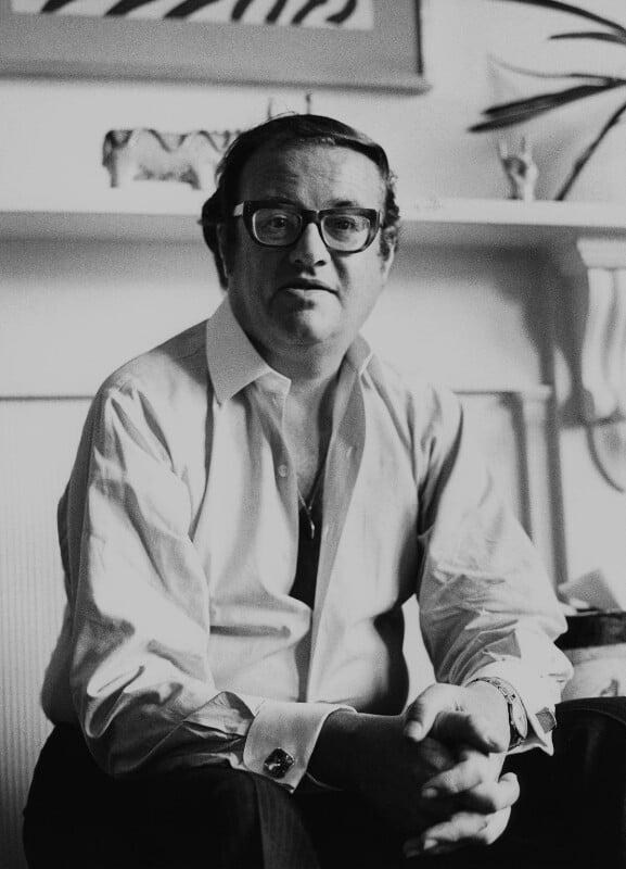 John Mortimer, by Godfrey Argent, 8 July 1969 - NPG x165954 - © National Portrait Gallery, London