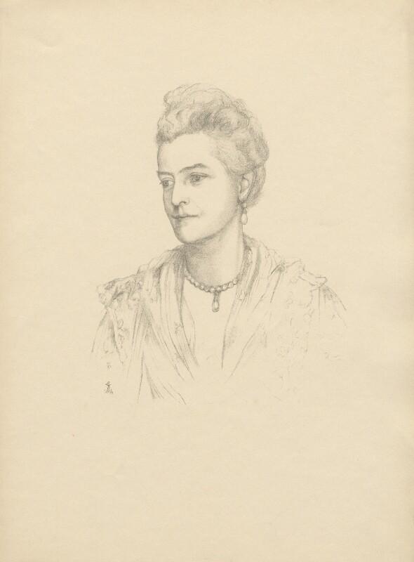 Harriet Sarah (née Loyd), Lady Wantage, after Violet Manners, Duchess of Rutland, 1894 - NPG D23374 - © National Portrait Gallery, London