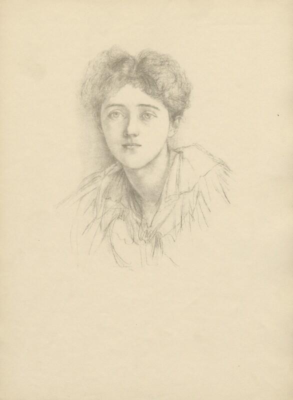 Pamela Frances Audrey Bulwer-Lytton (née Chichele-Plowden), Countess of Lytton, after Violet Manners, Duchess of Rutland, 1900 or before - NPG D23385 - © National Portrait Gallery, London