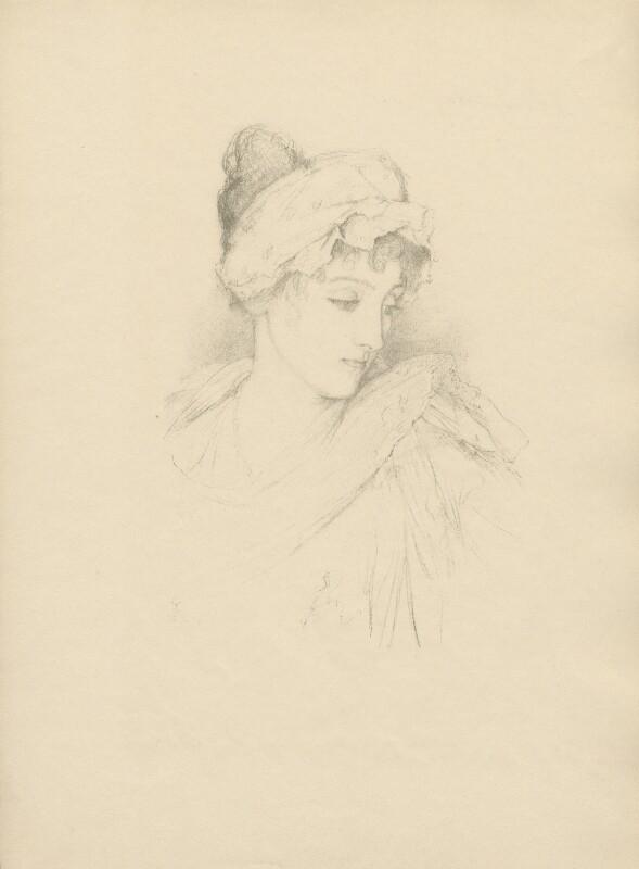 Norah Mary Madeleine Lindsay (née Bourke), after (Marion Margaret) Violet Manners (née Lindsay), Duchess of Rutland, 1897 - NPG D23392 - © National Portrait Gallery, London