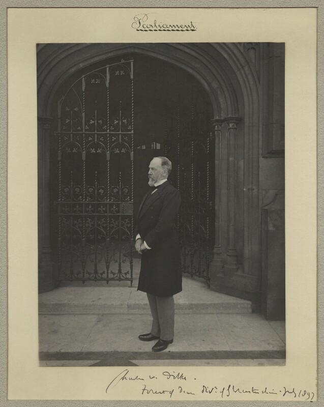 Sir Charles Wentworth Dilke, 2nd Bt, by Sir (John) Benjamin Stone, July 1897 - NPG x15766 - © National Portrait Gallery, London