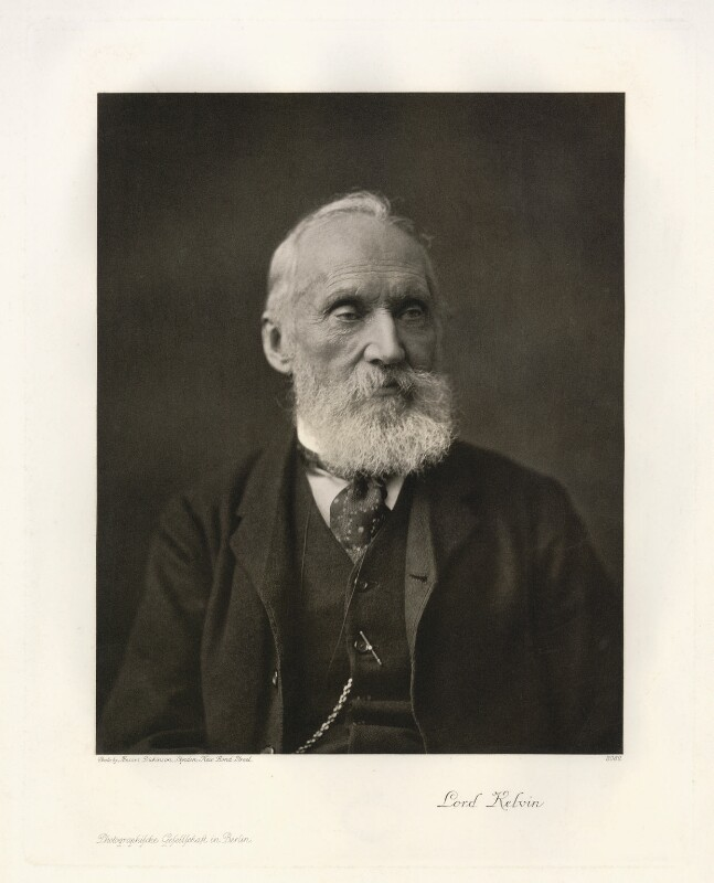 William Thomson, Baron Kelvin, by Dickinson Brothers, published by  Photographische Gesellschaft, circa 1900 - NPG x18987 - © National Portrait Gallery, London