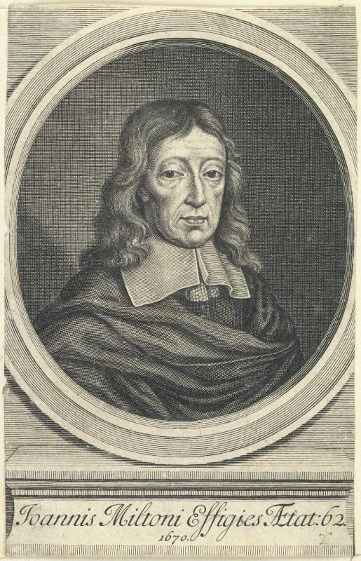 John Milton, after William Faithorne, (1670) - NPG D22861 - © National Portrait Gallery, London