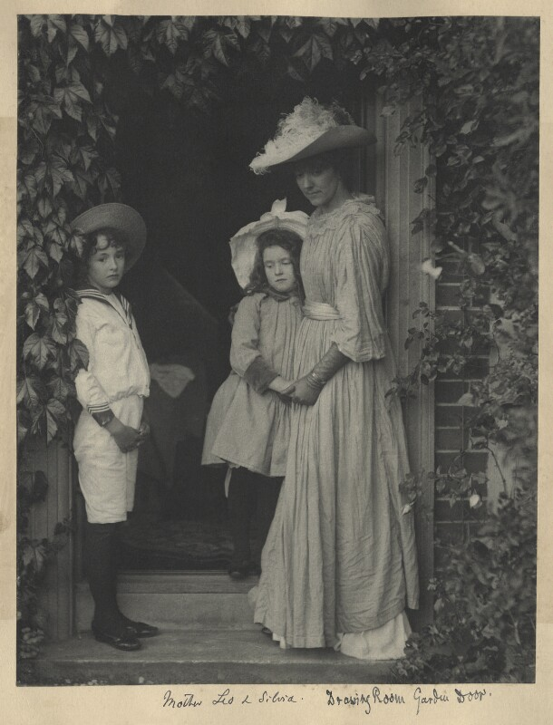 Leopold Hamilton Myers; Silvia Constance Myers; Eveleen Myers (née Tennant), by Eveleen Myers (née Tennant), circa 1890 - NPG Ax68395 - © National Portrait Gallery, London