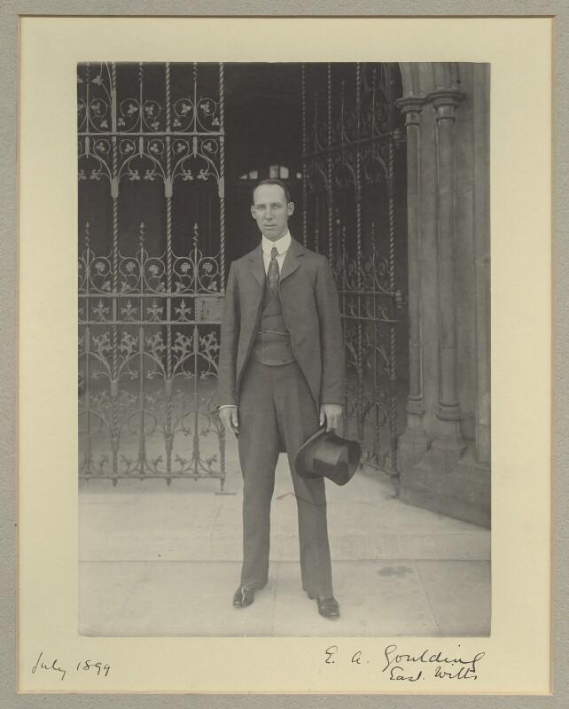 Edward Alfred Goulding, 1st Baron Wargrave, by Benjamin Stone, July 1899 - NPG x16048 - © National Portrait Gallery, London