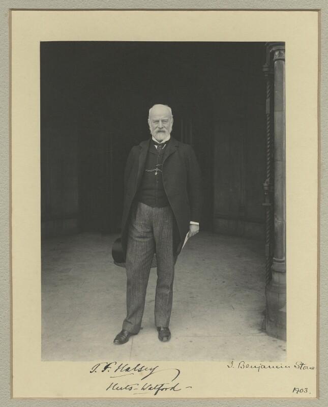 Sir (Thomas) Frederick Halsey, 1st Bt, by Benjamin Stone, 1903 - NPG x134192 - © National Portrait Gallery, London