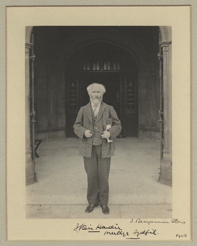 Keir Hardie, by Benjamin Stone, 1908 - NPG x20359 - © National Portrait Gallery, London