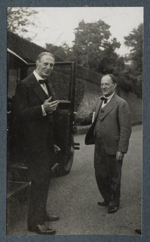 Philip Edward Morrell; Walter de la Mare, by Lady Ottoline Morrell, September 1935 - NPG Ax143871 - © National Portrait Gallery, London