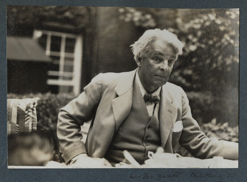 W.B. Yeats, by Lady Ottoline Morrell, 1935 - NPG Ax143873 - © National Portrait Gallery, London