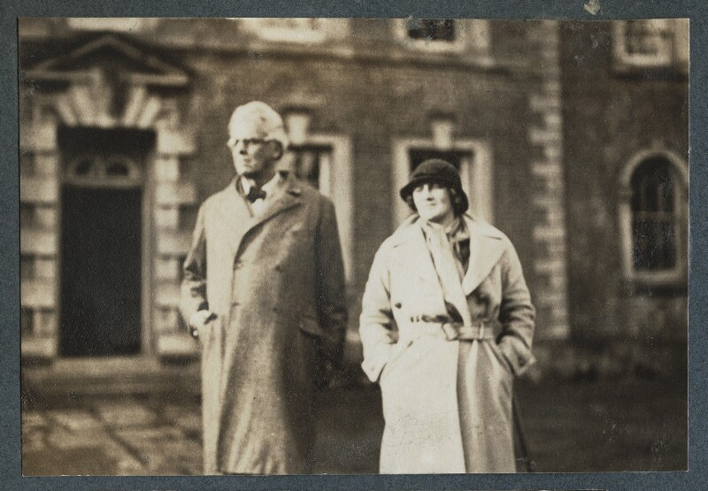 W.B. Yeats; Dorothy Violet Wellesley (née Ashton), Duchess of Wellington, by Lady Ottoline Morrell, 1935 - NPG Ax143876 - © National Portrait Gallery, London