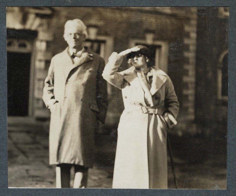 W.B. Yeats; Dorothy Violet Wellesley (née Ashton), Duchess of Wellington, by Lady Ottoline Morrell, 1935 - NPG Ax143877 - © National Portrait Gallery, London