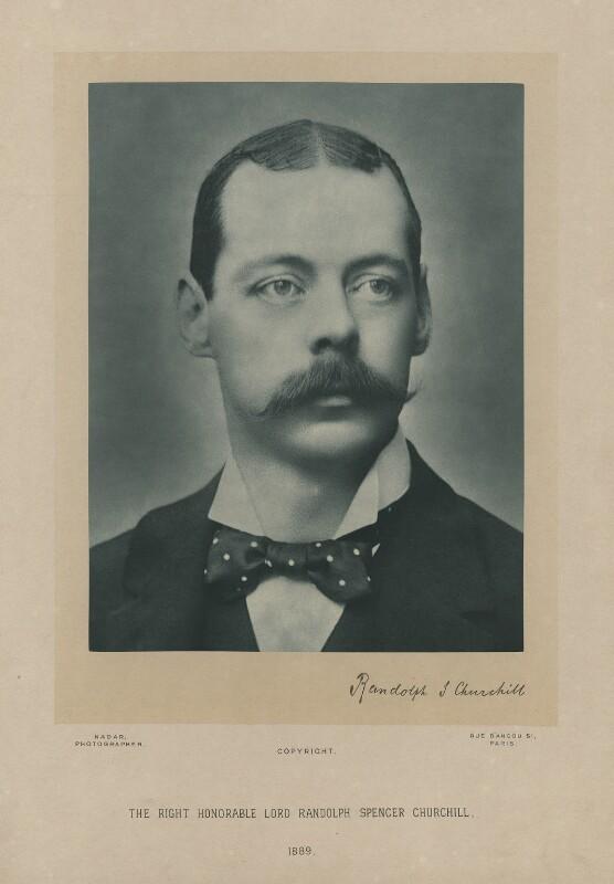 Lord Randolph Churchill, by Nadar (Gaspard Félix Tournachon), 1889 - NPG x6117 - © National Portrait Gallery, London