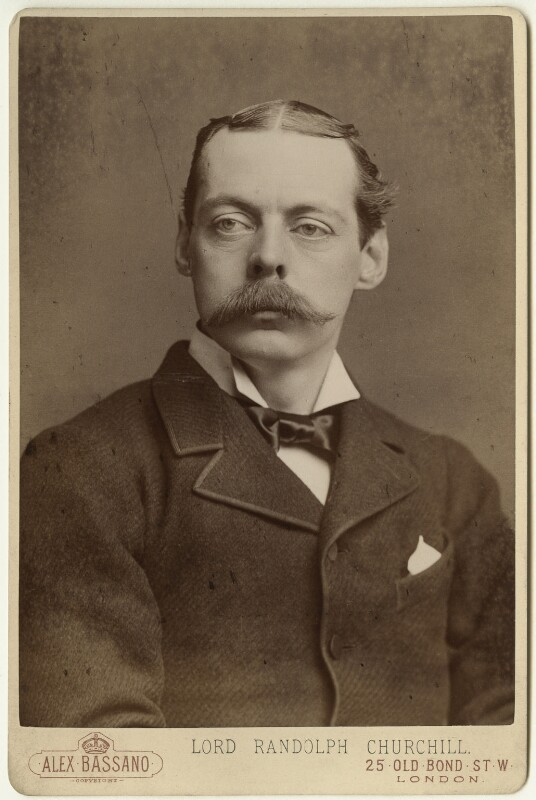 Lord Randolph Churchill, by Alexander Bassano, 1885 - NPG x6115 - © National Portrait Gallery, London