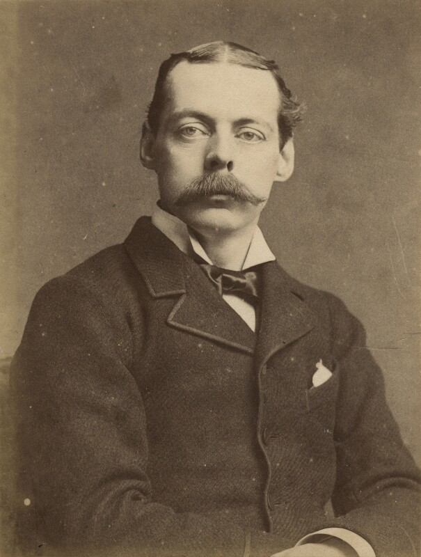 Lord Randolph Churchill, by Alexander Bassano, 1885 - NPG x17012 - © National Portrait Gallery, London