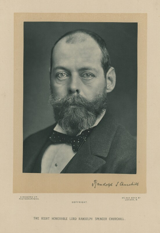 Lord Randolph Churchill, by Alexander Bassano, early-mid 1890s - NPG x6118 - © National Portrait Gallery, London